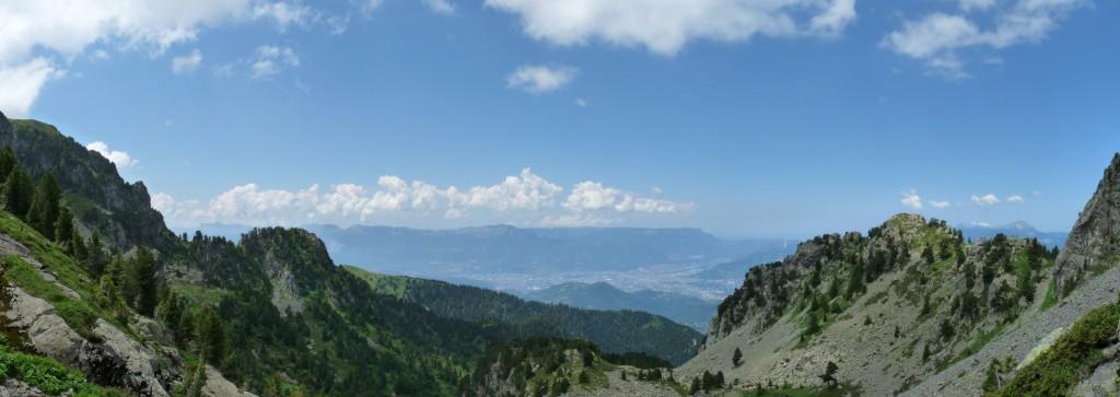 Grenoble et le Vercors vus depuis la brèche Nord...