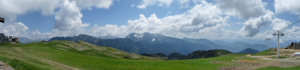 Vue vers le Taillefer : La Meije, Grand Galbert, Taillefer, Tabor, Grand Serre