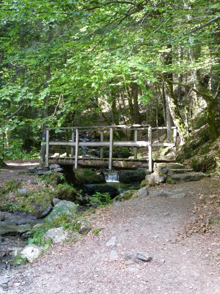 Pont pour traverser le ruisseau des Pourrettes