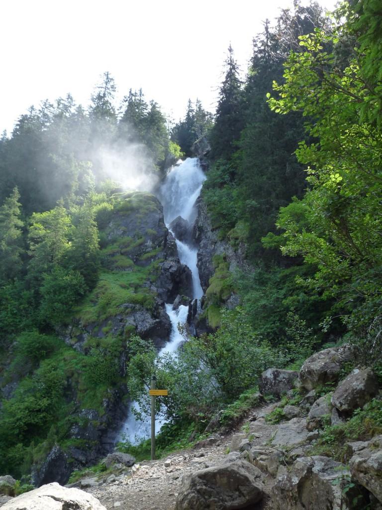 La cascade de l'Oursière, en air et en eau