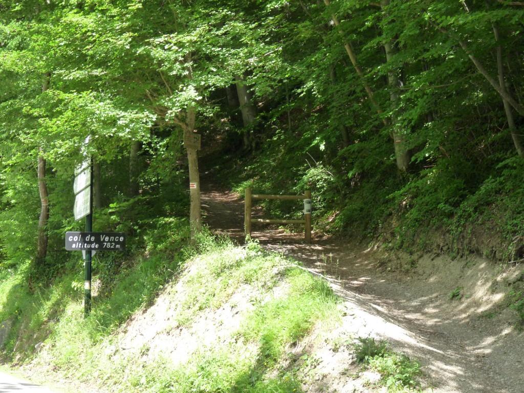 Départ depuis le Col de Vence