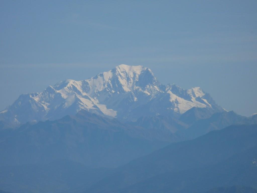 Le Mont-Blanc vu depuis le Moucherotte