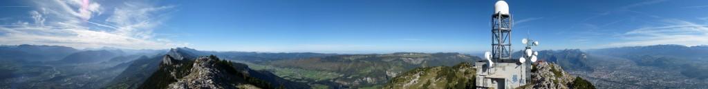 Panoramique depuis le sommet du Moucherotte